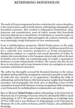 Rethinking Households : An Atomistic Perspective on European Living Arrangements - Michel Verdon