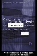 Quantitative Data Analysis with SPSS Release 8 for Windows : A Guide for Social Scientists - Alan Bryman