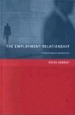 Employment Relationship : A Psychological Perspective - Peter Herriot