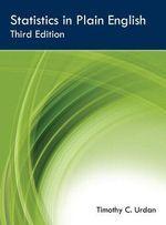 Statistics in Plain English, Third Edition - Timothy C. Urdan
