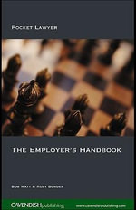 The Employer's Handbook : Pocket Lawyer - Bob Watt