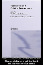Federalism and Political Performance - Ute Wachendorfer-Schmidt