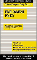 Employment Policy - Margareta Holmstedt