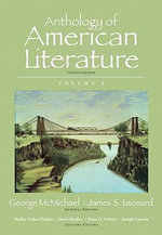 Anthology of American Literature : v. 1 - George McMichael