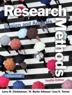 Research Methods, Design, and Analysis - Larry B. Christensen