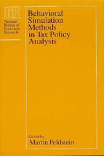 Behavioural Simulation Methods in Tax Policy Analysis : National Bureau of Economic Research Project Report