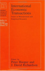 International Economic Transactions : Issues in Measurement and Empirical Research - Peter Hooper