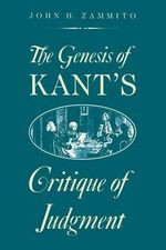 The Genesis of Kant's