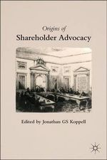 The Origins of Shareholder Advocacy