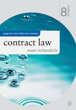 Contract Law : Palgrave Law Masters - Ewan McKendrick