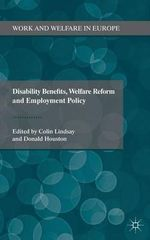 Disability Benefits, Welfare Reform and Employment Policy : Turkish NGOs as Instruments of Change