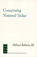 Conserving Natural Value - Holmes Rolston