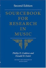 Sourcebook for Research in Music - Phillip D. Crabtree