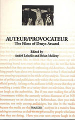 Auteur : The Films of Denys Arcand - McIlroy
