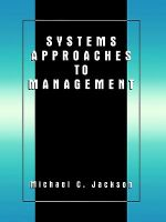 Systems Approaches to Management - Michael C. Jackson