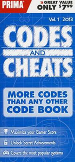 Codes & Cheats, Volume 1 : Prima Game Guide - Prima Games