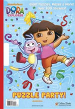 Puzzle Party! (Dora the Explorer) : Giant Puzzles, Mazes & More! Over 100 Stickers Inside - Golden Books