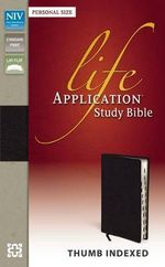 NIV Life Application Study Bible, Personal Size Indexed - Zondervan