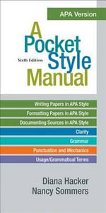 A Pocket Style Manual, APA Version - University Diana Hacker