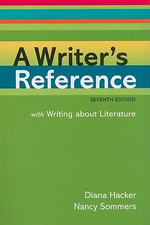 A Writer's Reference : With Writing About Literature - University Diana Hacker