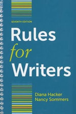 Rules for Writers with Writing about Literature (Tabbed Version) - University Diana Hacker