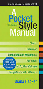 A Pocket Style Manual : Includes 2009 Mla & 2010 Apa Updates - Diana Hacker