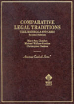 Comparative Legal Traditions :  Text, Materials, and Cases on the Civil and Common Law Traditions, with Special Reference to French, German, English - Mary Ann Glendon