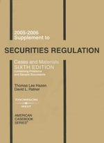 Supplement to Securities Regulation : Cases and Materials - Thomas Lee Hazen