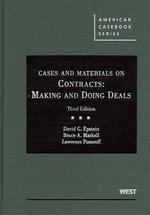 Cases and Materials on Contracts : Making and Doing Deals - David G Epstein