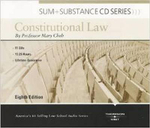 Cheh's Sum and Substance Audio Constitutional Law, 8th (CD) - Mary Cheh