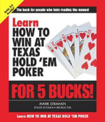 Learn How to Win at Poker for 5 Bucks : Learn for 5 Bucks - Stephen Gregory