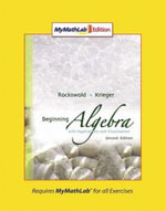 Beginning Algebra with Applications and Visualization : MyMathLab Edition - Gary K. Rockswold