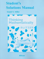 Student Solutions Manual for Thinking Mathematically - Robert F. Blitzer