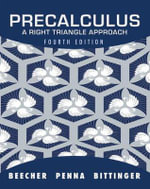 Precalculus : A Right Triangle Approach - Judith A. Beecher