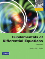 Fundamentals of Differential Equations : International Edition - R.Kent Nagle