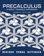 Precalculus : A Right Triangle Approach Plus MyMathLab/MyStatLab -- Access Card Package - Judith A. Beecher