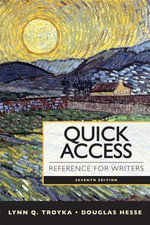 Quick Access Reference for Writers with New MyCompLab with Etext -- Access Card Package : Reference for Writers with New MyCompLab Student Access Code Card - Lynn Quitman Troyka