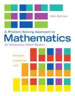 A Problem Solving Approach to Mathematics for Elementary School Teachers - Rick Billstein