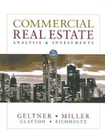 Common Real Estate Analysis and Investments - MILLER