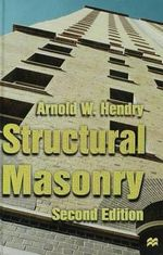 Structural Masonry : Mechanical Models and Numerical Applications - A. W. Hendry