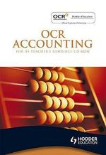OCR Accounting for AS : Teacher's Resource - Dave Sutton