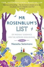 Mr. Rosenblum's List :  Or Friendly Guidance for the Aspiring Englishman - Natasha Solomons