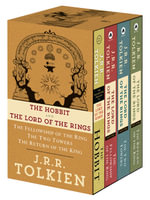 J.R.R. Tolkien 4-Book Boxed Set: The Hobbit and the Lord of the Rings (Movie Tie-In) : The Hobbit, the Fellowship of the Ring, the Two Towers, the Return of the King - J R R Tolkien
