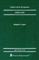 Lemon Laws - Margaret C. Jasper
