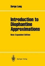 Introduction to Diophantine Approximations : Springer Books on Elementary Mathematics - Serge Lang