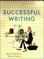 Successful Writing : Classics, Civilization, and the African American R... - Maxine Hairston
