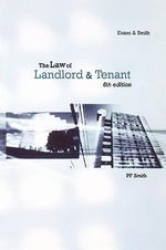 The Law of Landlord and Tenant - David Lloyd Evans
