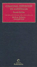 Criminal Defences in Australia - P. A. Fairall