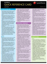 Employment Law : Quick Reference Card - Sangkuhl