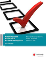 Auditing and Assurance : A Case Studies Approach : 6th Edition - Nonna Martinov-Bennie